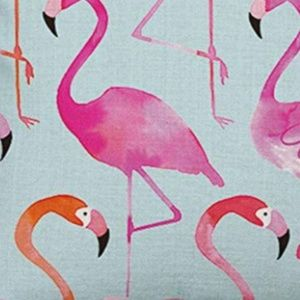 """Accents - NEW PINK & CORAL FLAMINGO 18x18""""  PILLOW CASE"""